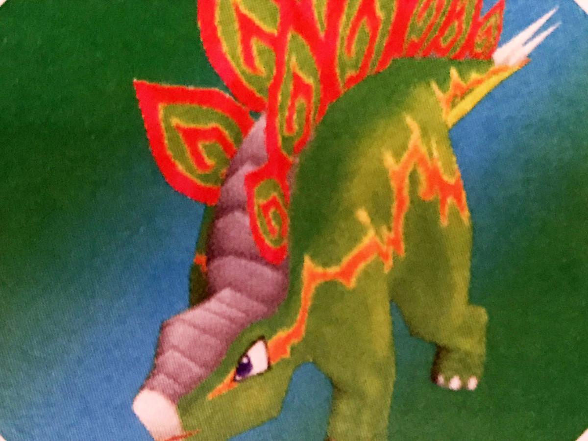 The Stego Vivosaur in Fossil Fighters for Nintendo DS.