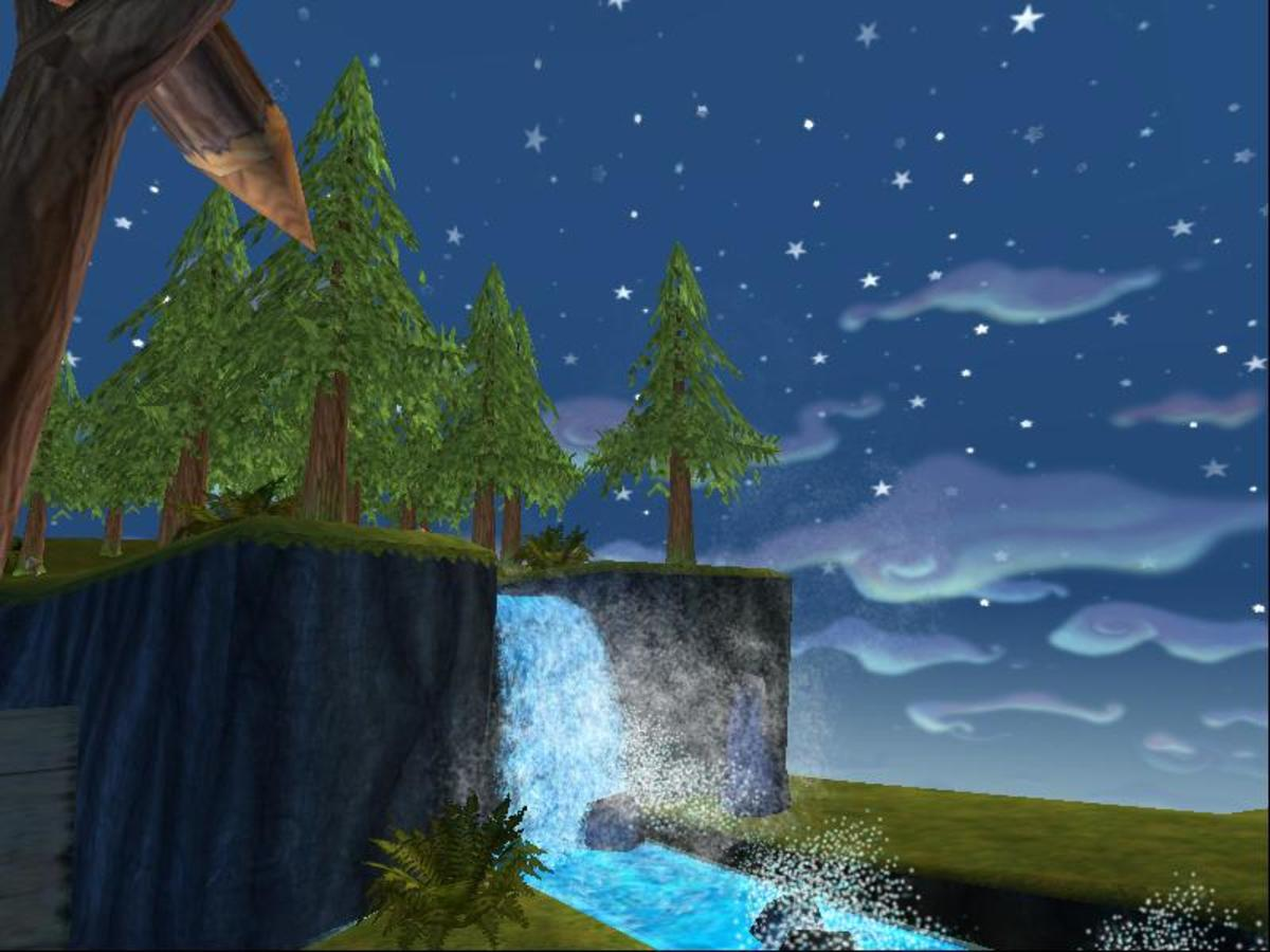 You'll be able to enjoy many pretty waterfalls once you are done. This house has a really nice aesthetic.