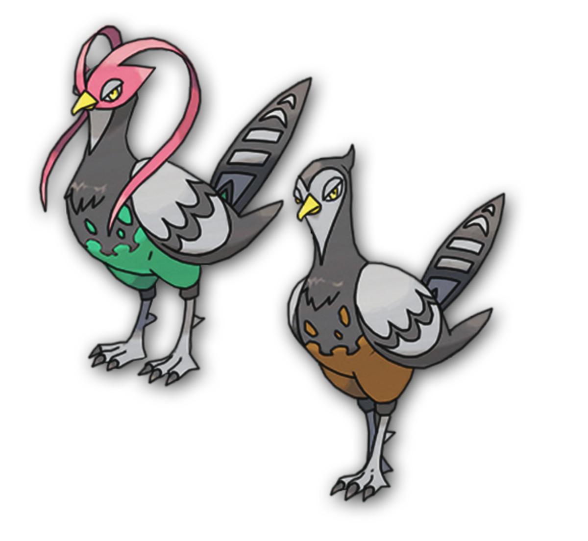 Unfezant male and female