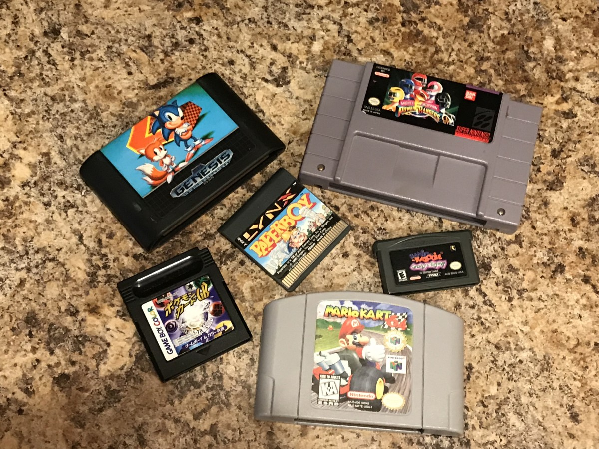This method should work for almost any old game cartridge where you can access the connector.