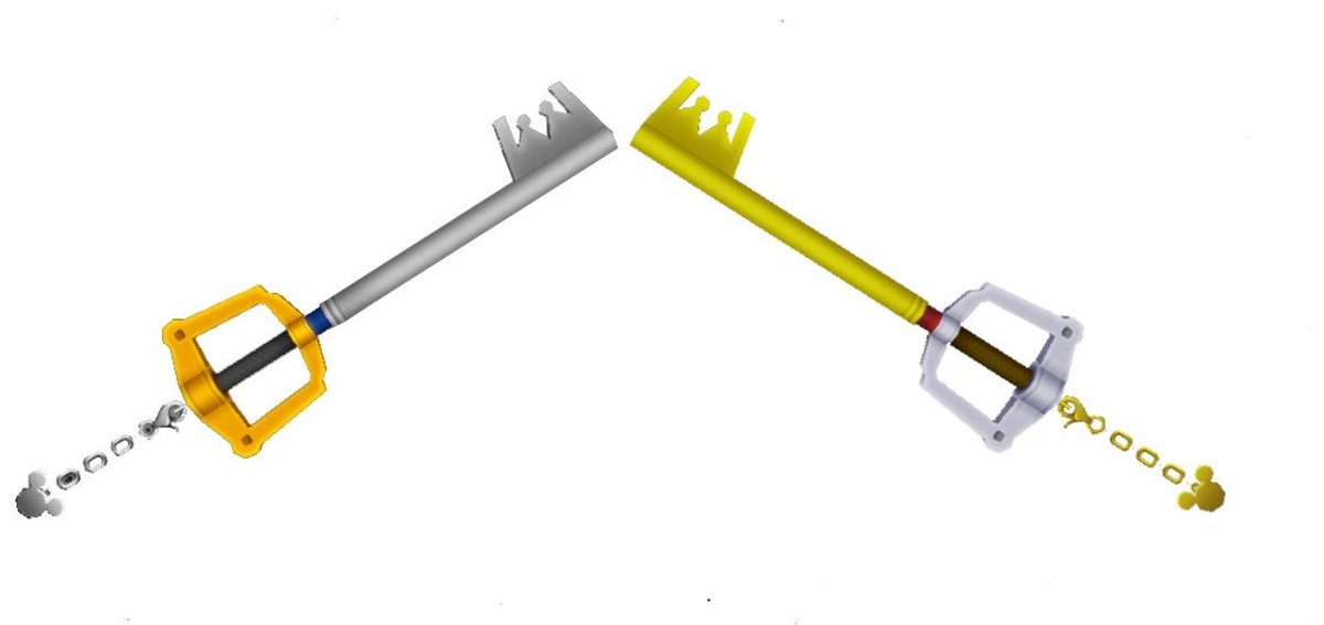 Sora's Kingdom Key and King Mickey's Kingdom Key D