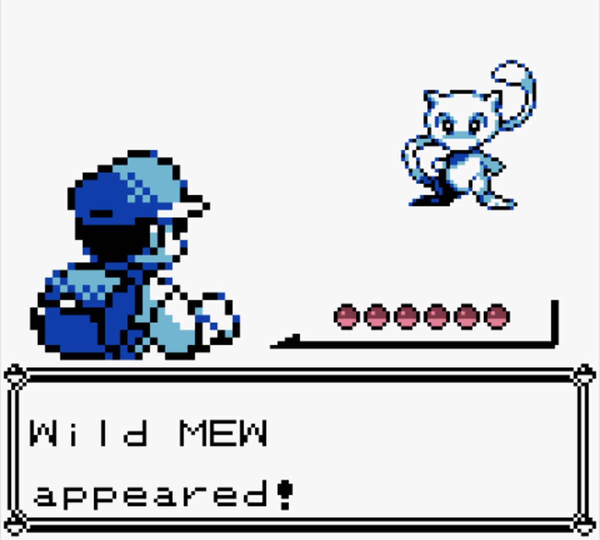 Glitch Mew in Pokemon Blue
