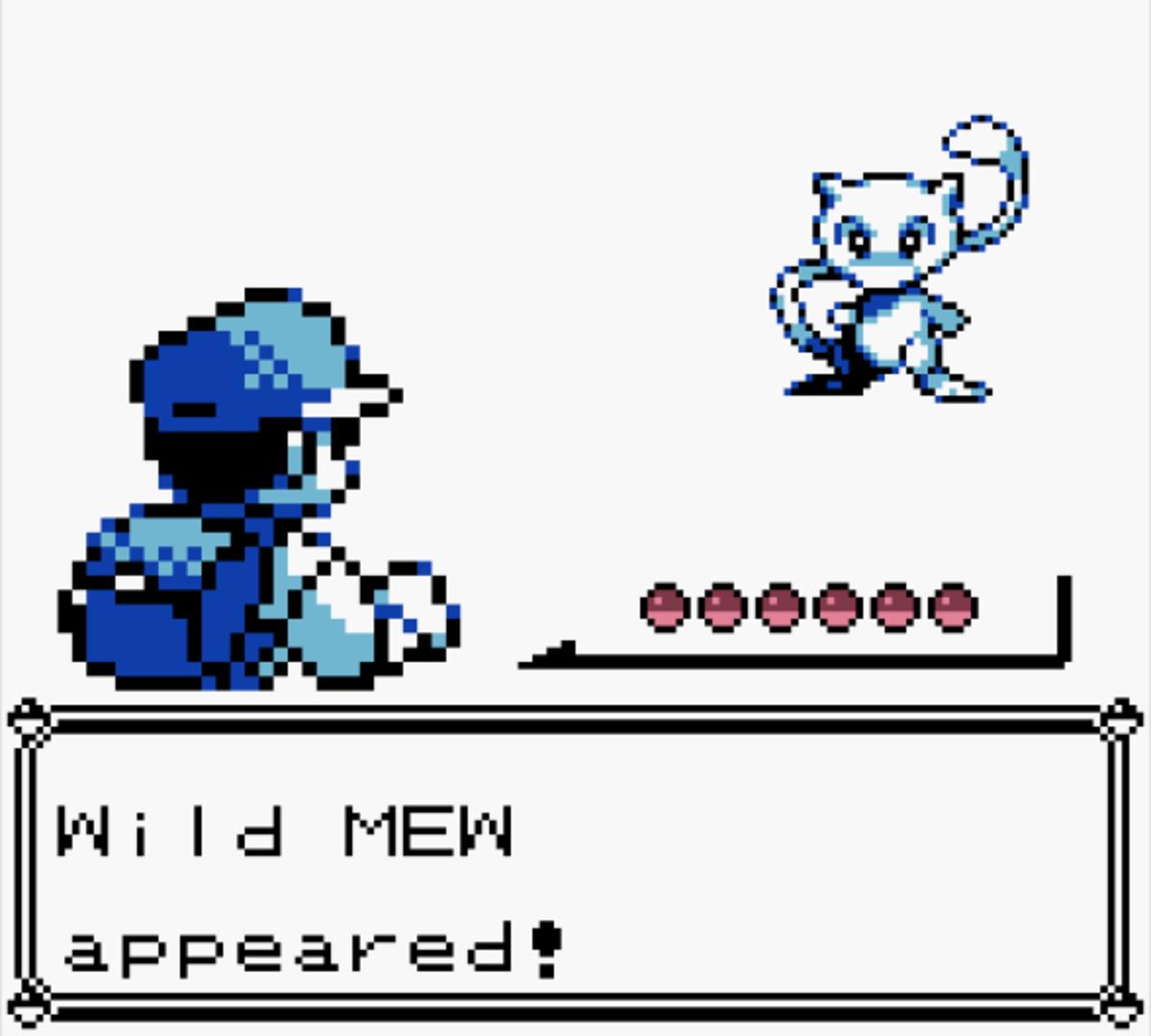 Glitch Mew in Pokemon Blue