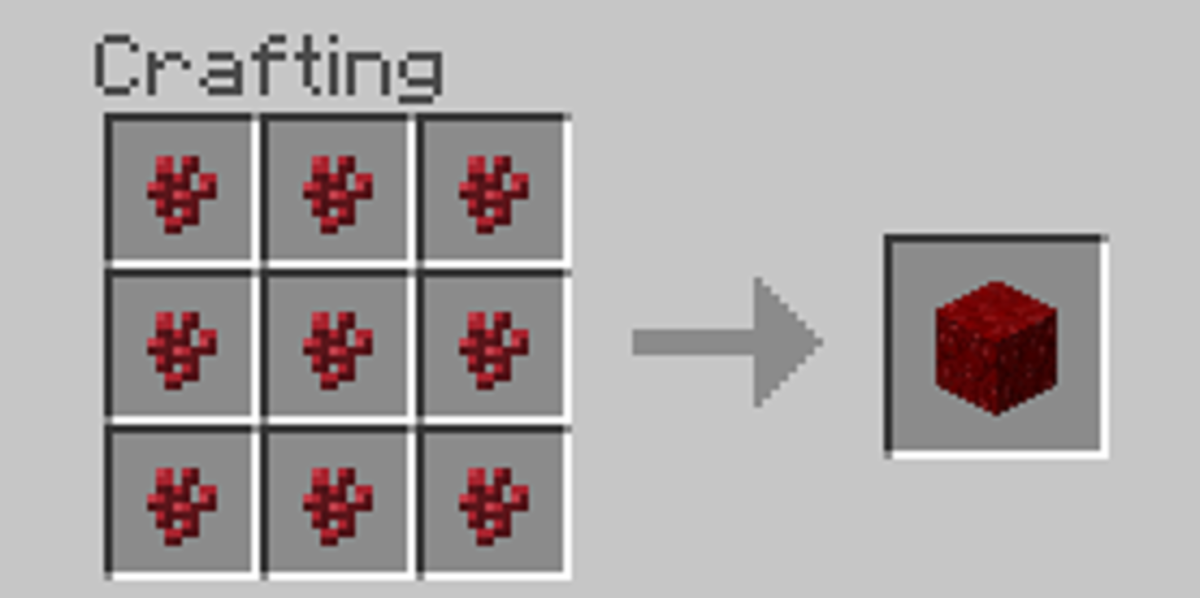 Nether wart blocks are for decorative purposes only. Once made, they cannot be crafted back into nether wart.