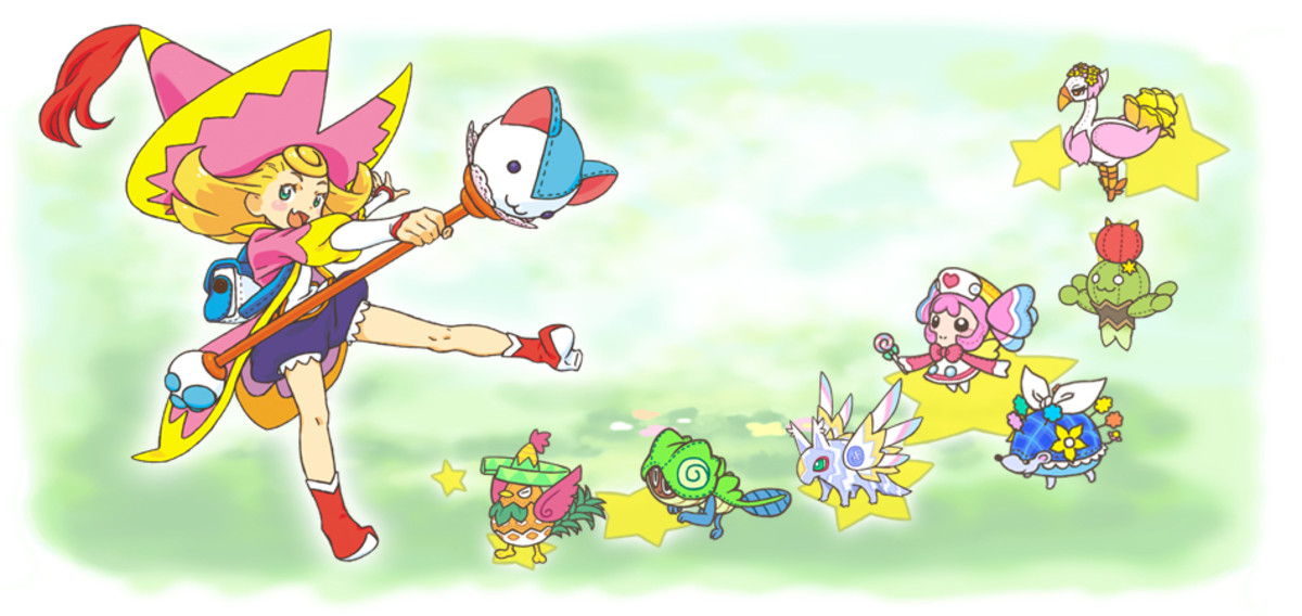 Promotional artwork for Moco Moco Friends.