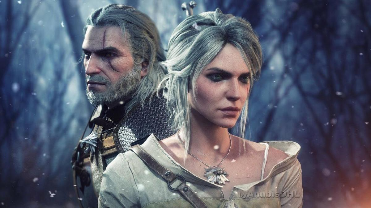 """Ciri and Geralt from """"The Witcher 3."""""""
