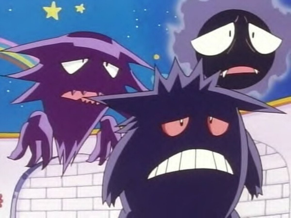 Haunter, Gengar, and Gastly