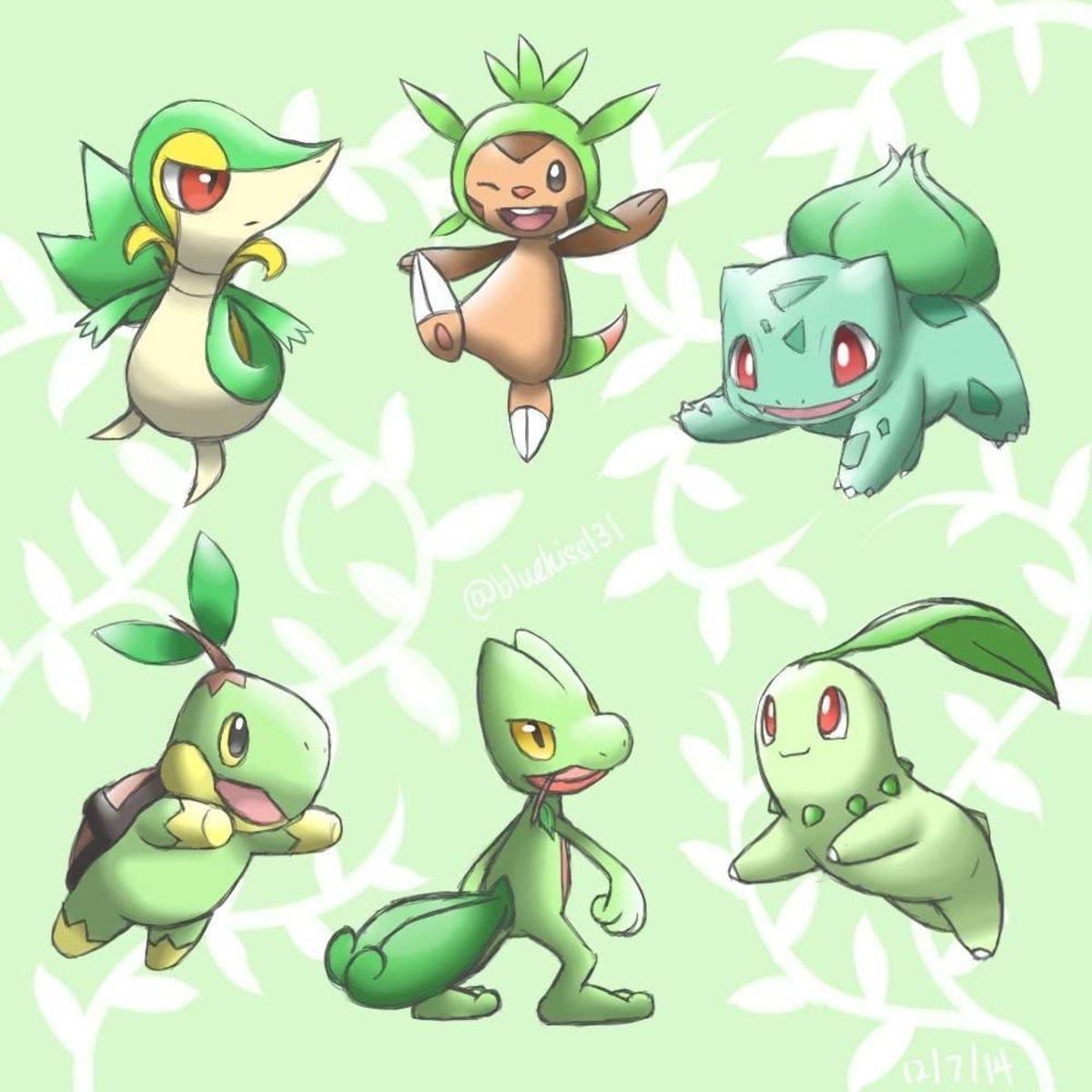 Pokemon: Top 3 Grass Type Starters
