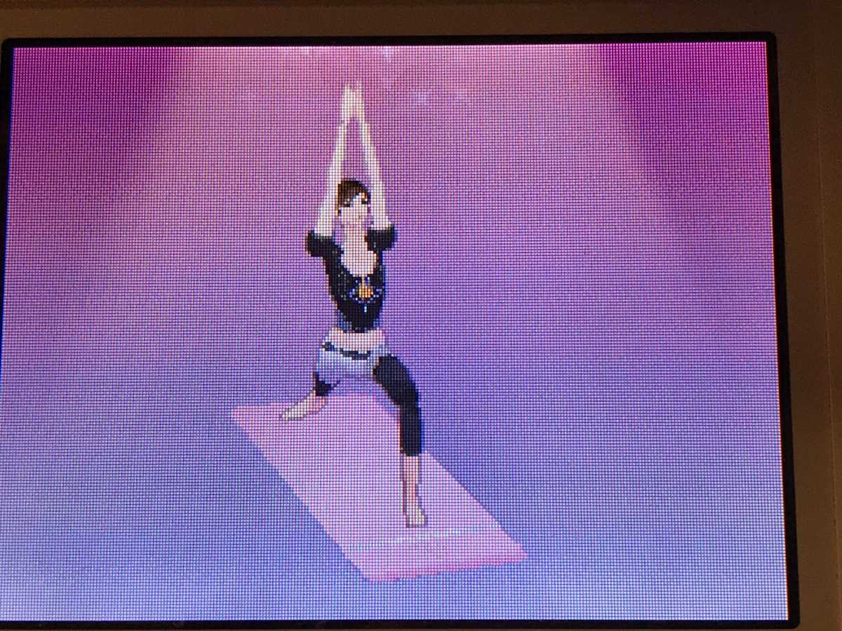 A screenshot from Let's Yoga.