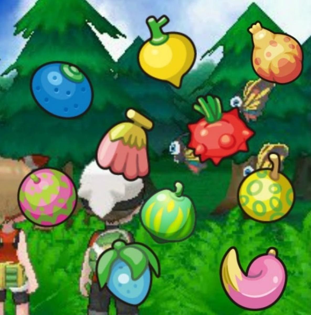 Various Pokémon Berries