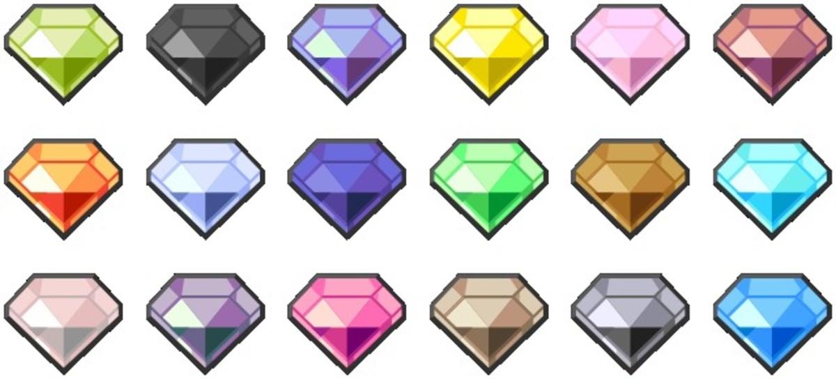 Pokemon's elemental gems