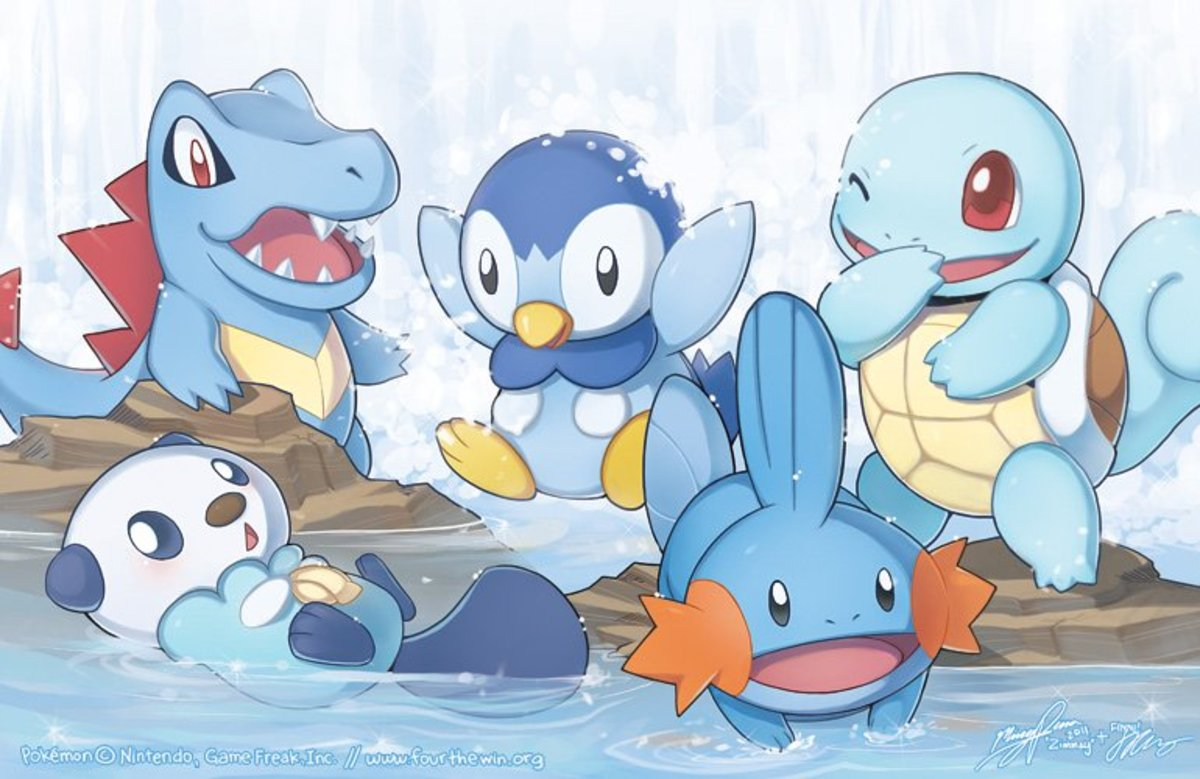 pokemon top 3 water type starters levelskip