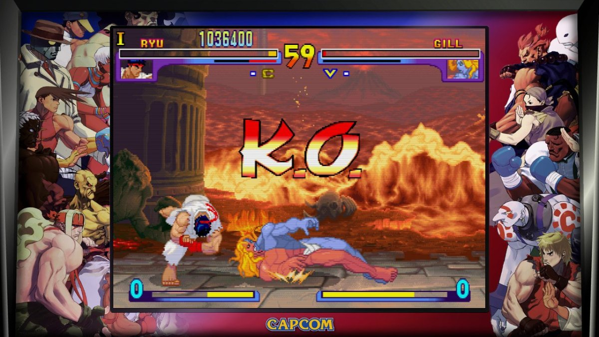 The Street Fighter III games are one of the most beautiful looking 2-D fighters out there.