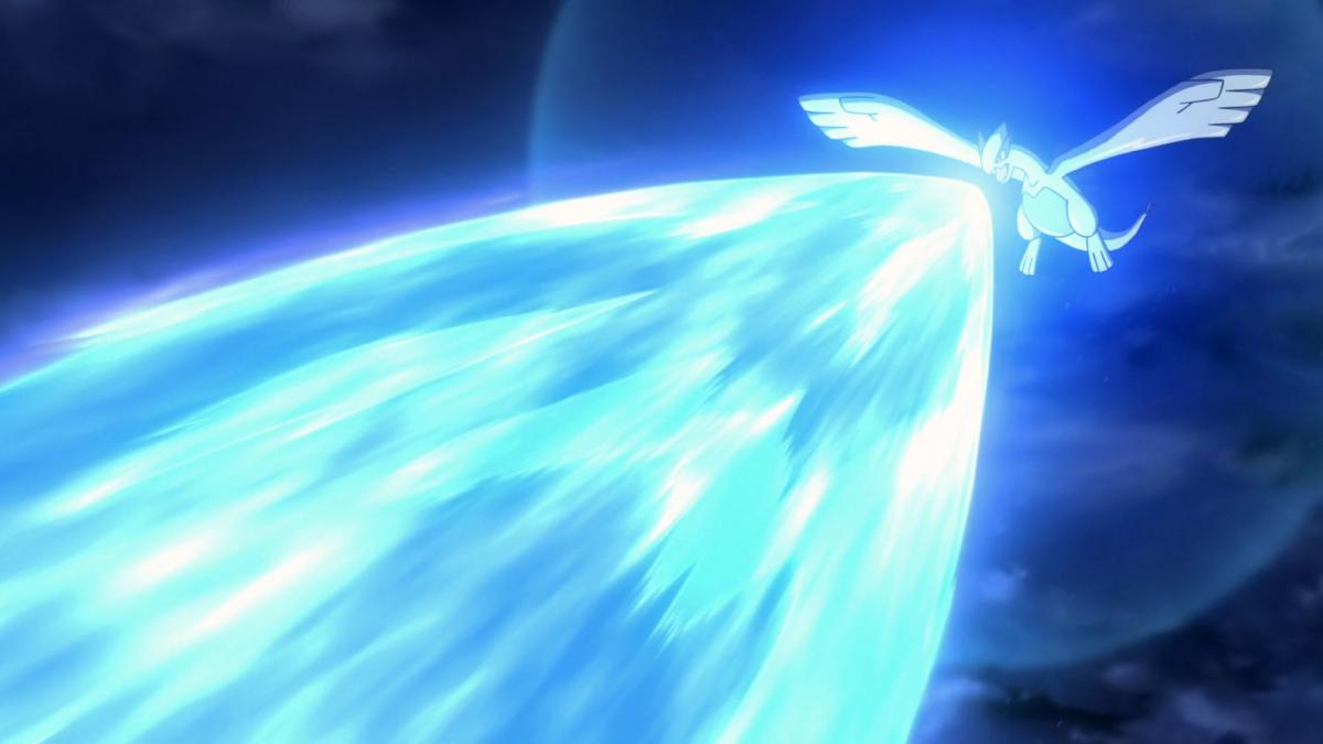 Lugia using Aeroblast
