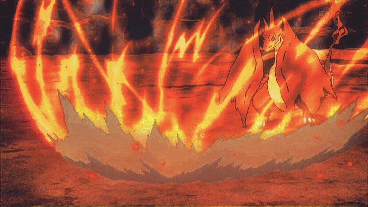 Mega Charizard Y using Heat Wave