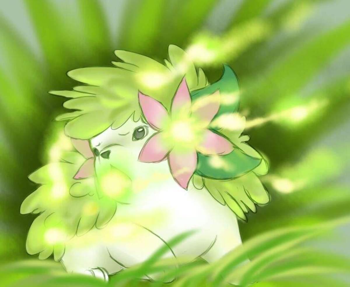 Shaymin using Seed Flare