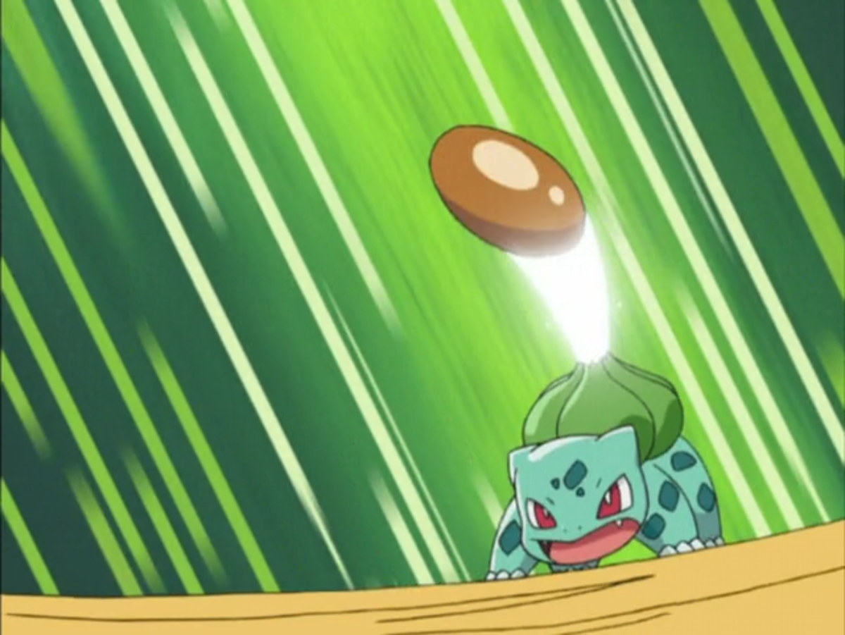Bulbasaur using Leech Seed