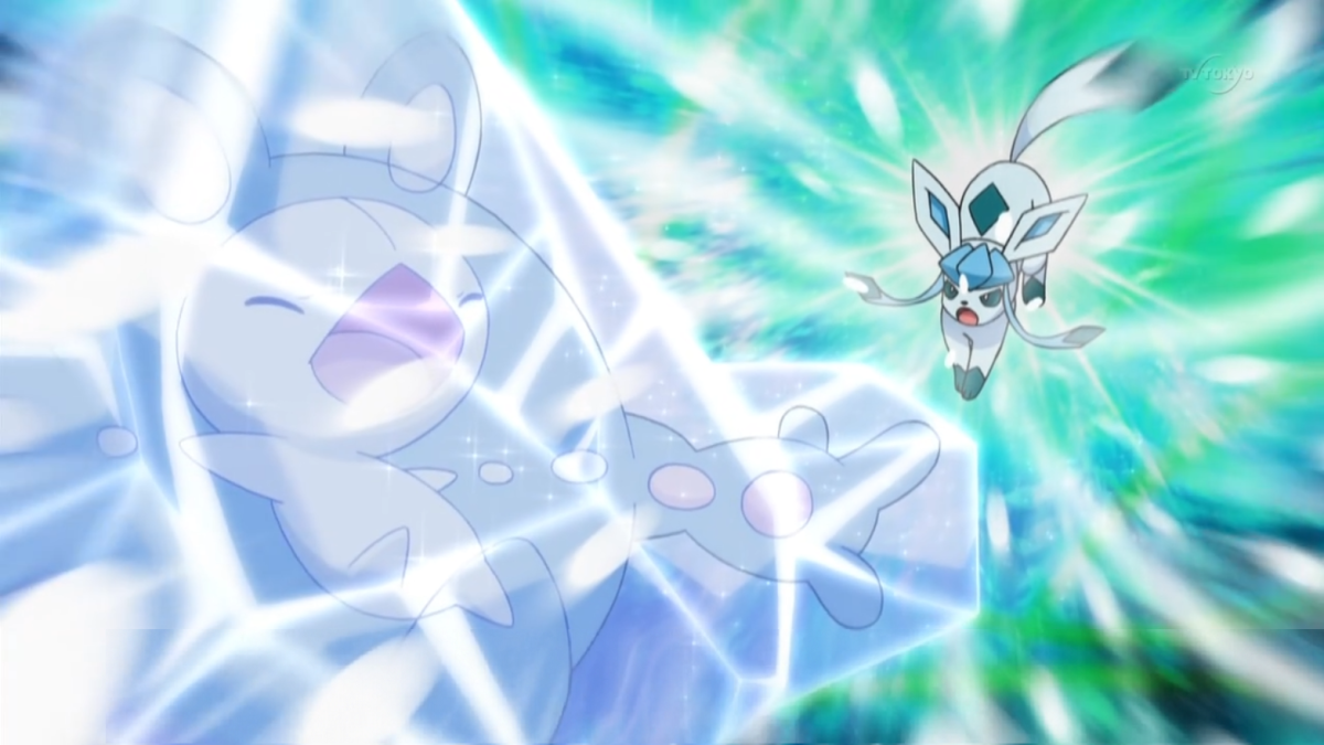 Glaceon using Blizzard