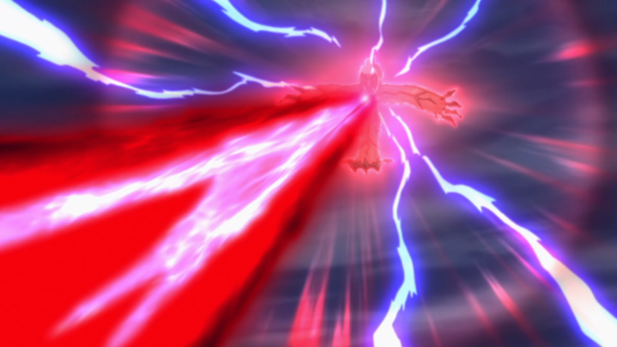 Yveltal using Oblivion Wing