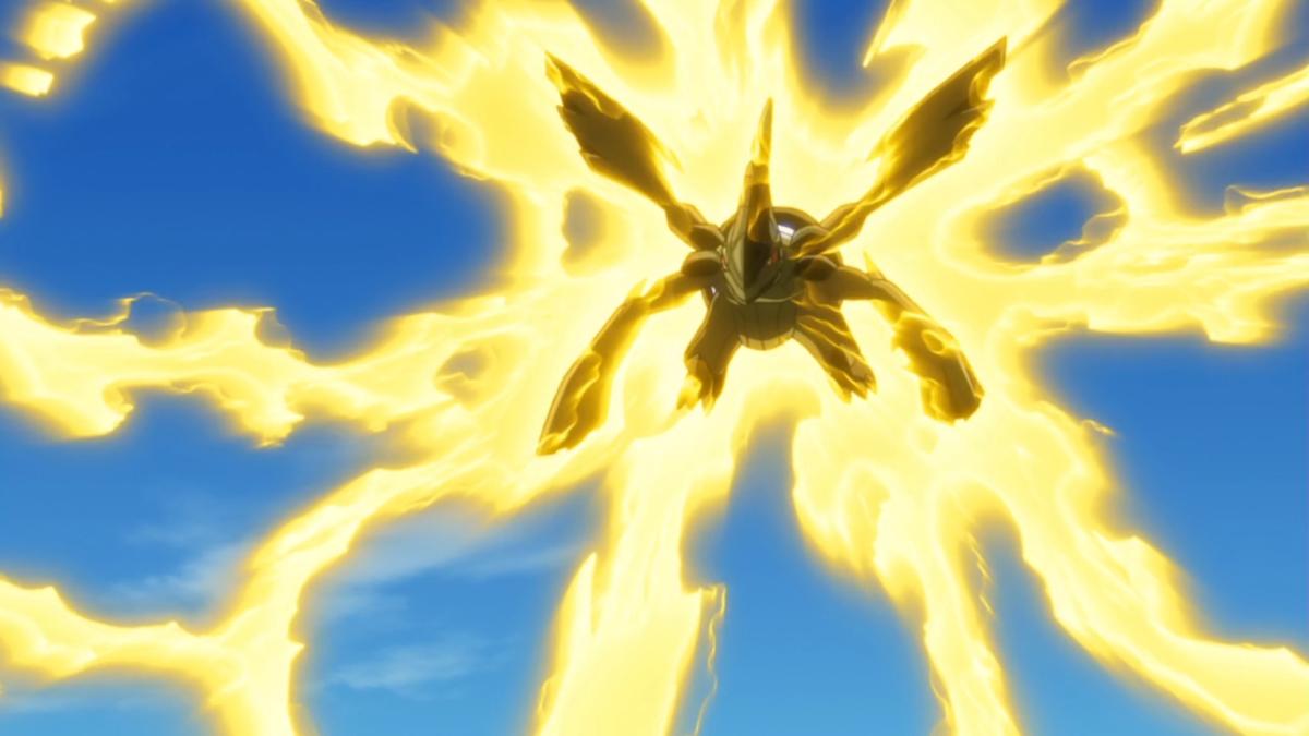 Zekrom using Bolt Strike