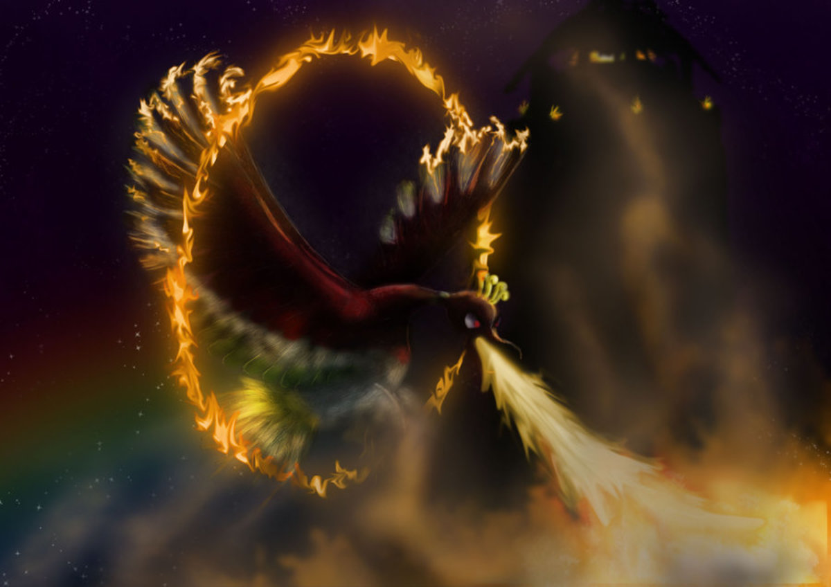 Ho-Oh using Sacred Fire