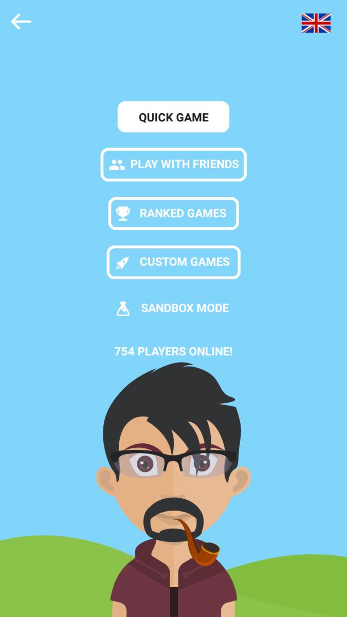 Screenshot of game mode selection.