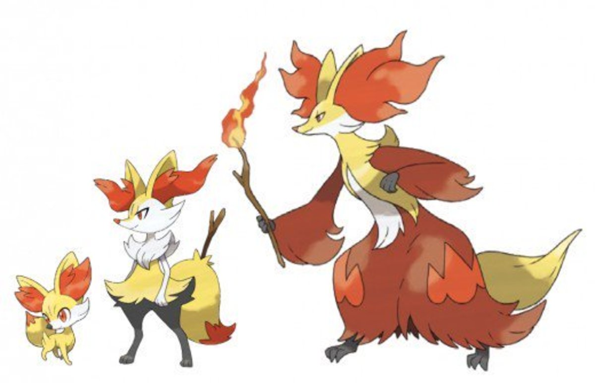 Fennekin, Braixen, and Delphox