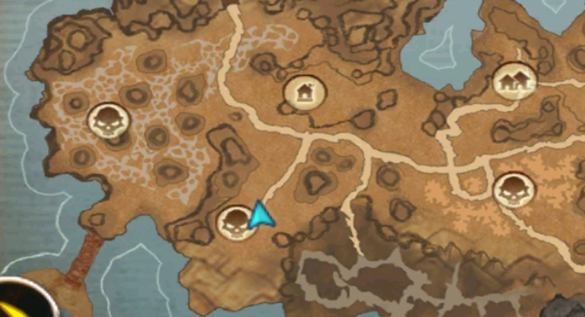 Rammer's vendor is at the exact location as the blue arrow. Rammer spawns just below there.
