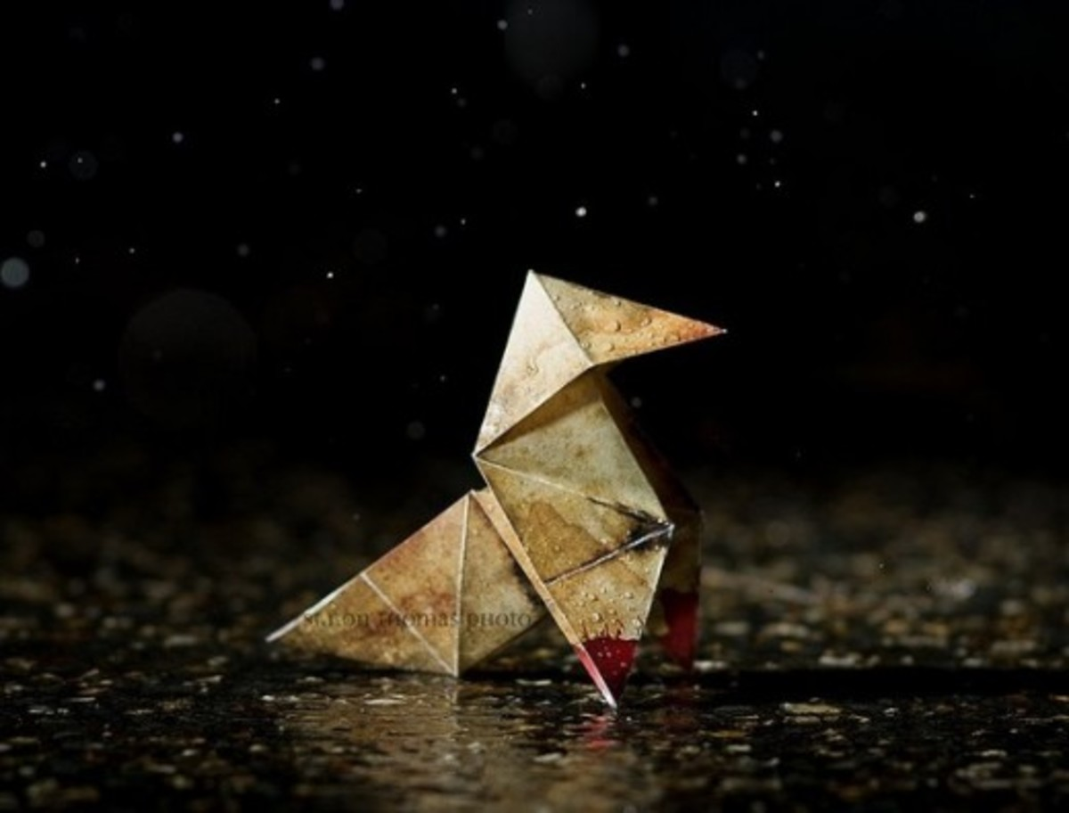 The Origami Killer's calling card