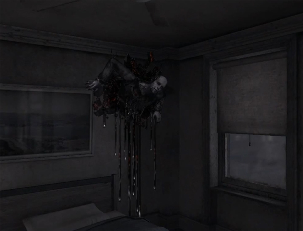 One of the many haunting placements found in Henry's apartment.
