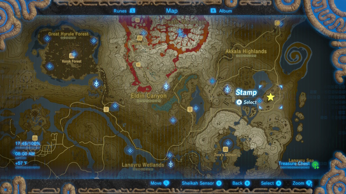 Location Map of Mija's Great Fairy Fountain