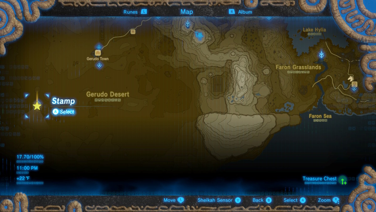 Location Map of Tera's Great Fairy Fountain