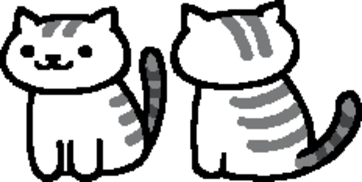"This is the in-game sprite for Mack in ""Neko Atsume."""