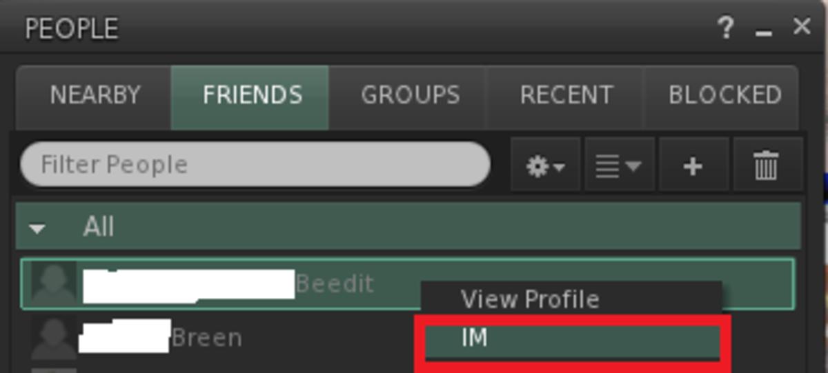 """Image 3: Click """"IM"""""""