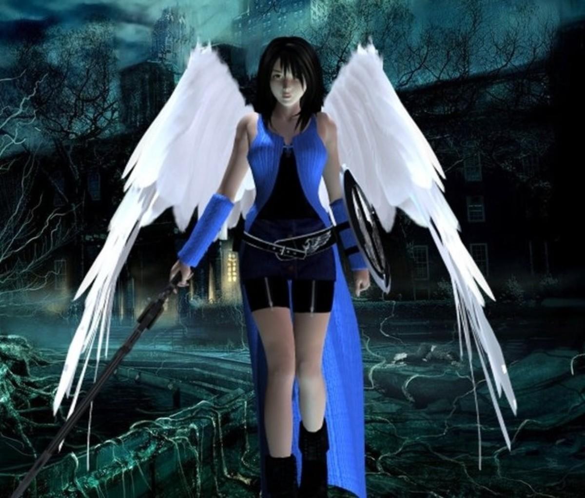 Rinoa's Angel Wing form