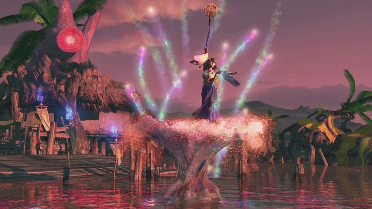 Yuna does the Sending dance in Final Fantasy x.
