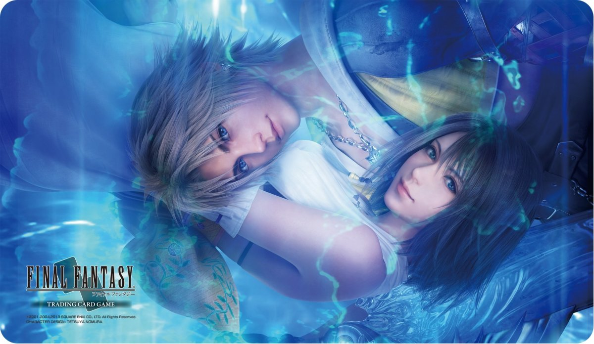 Final Fantasy X poster imagery.