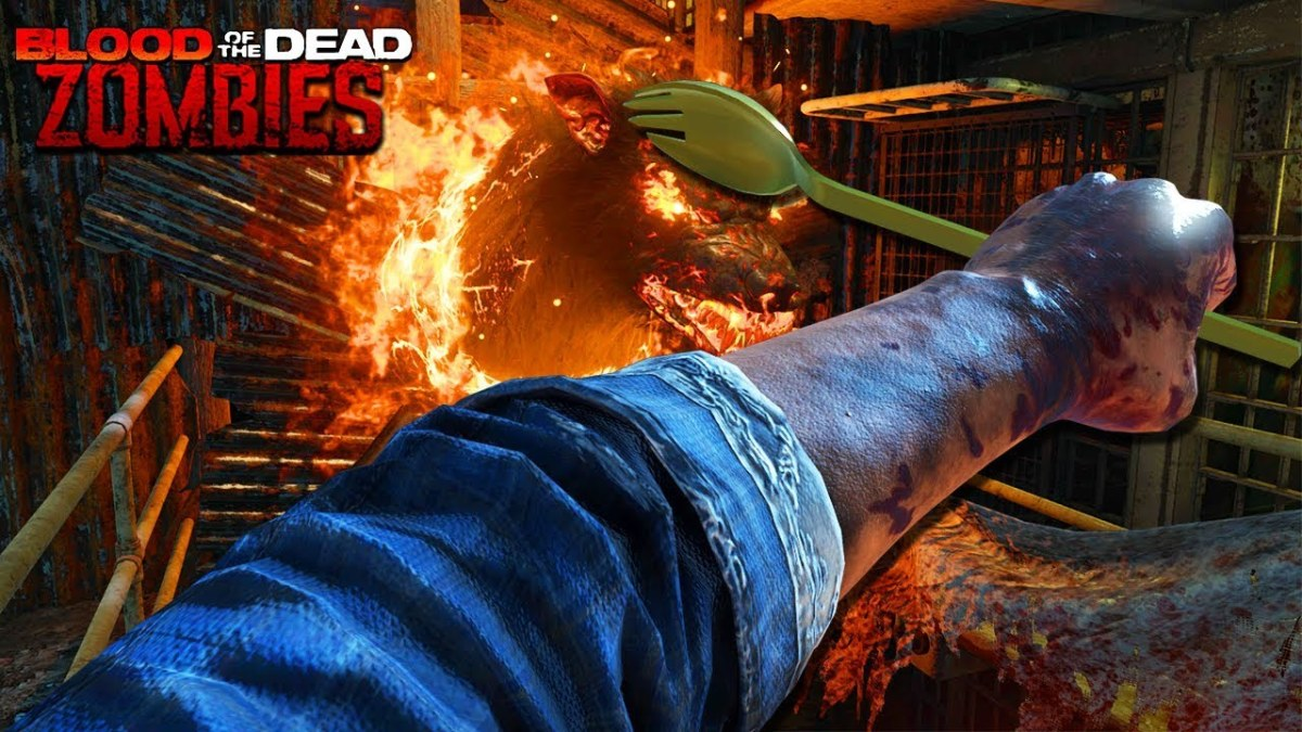 Black Ops 4 Blood of the Dead Zombies: Golden Spork Easter