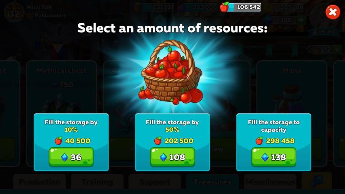 Buying Apples in exchange for Diamonds