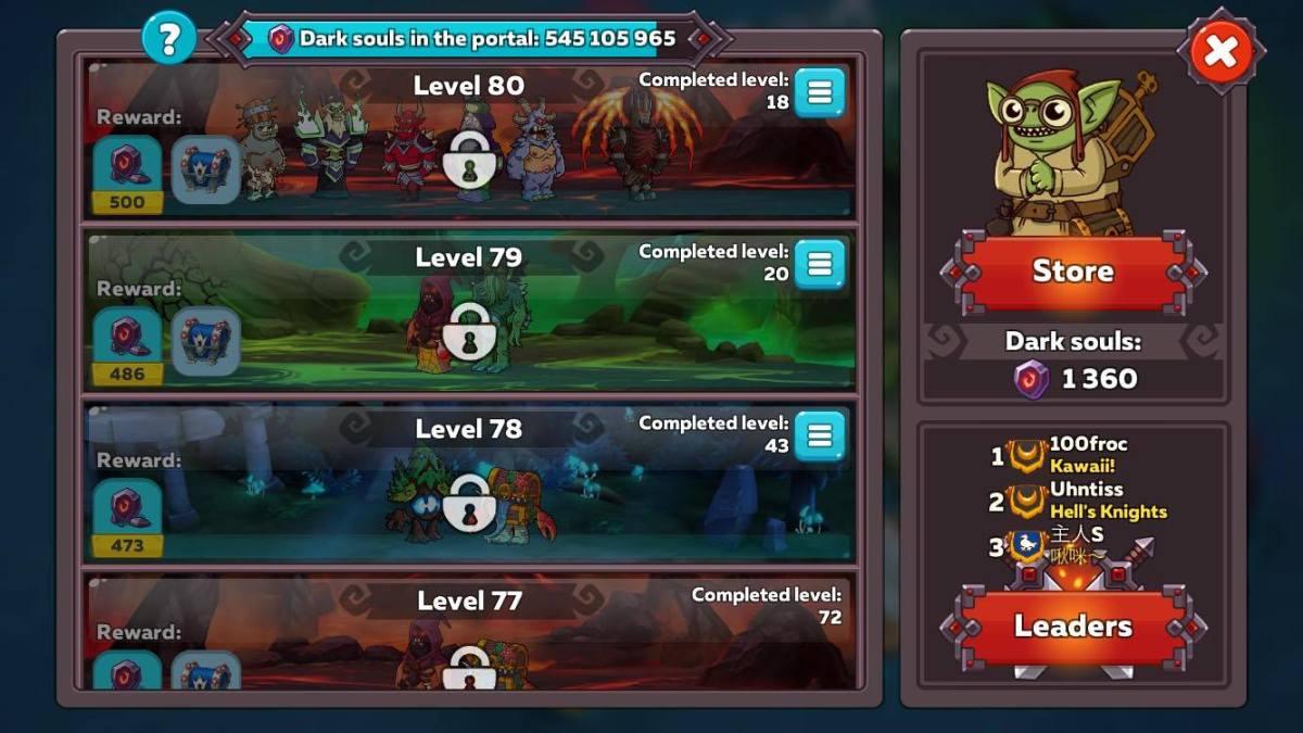 Level 80 (Highest Dungeon Level in the Dark Portal)