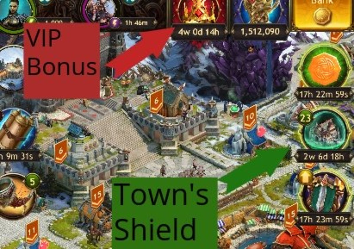 The VIP Bonus and Town Shield are two important ways to level fast in Viking: War of Clans.
