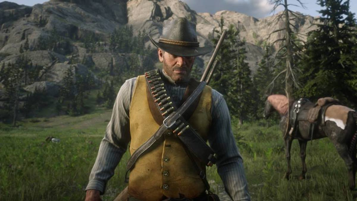 "The protagonist, Arthur Morgan, in ""Red Dead Redemption 2"""