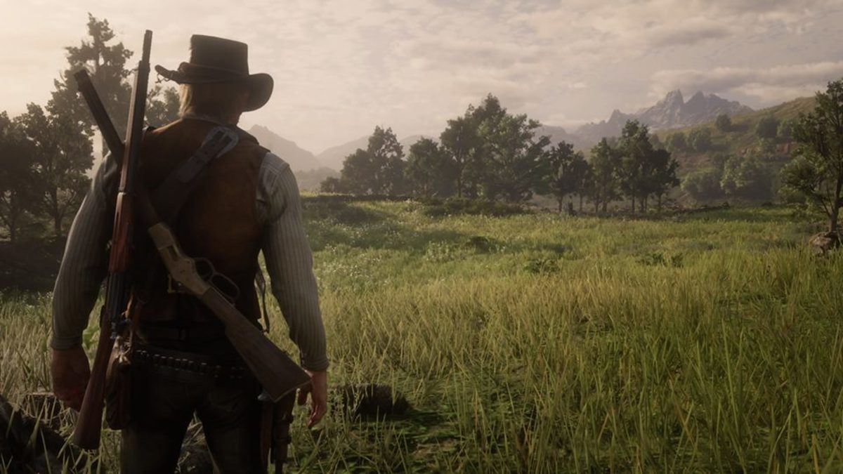 Two primary weapons can be carried on Arthur Morgan's back