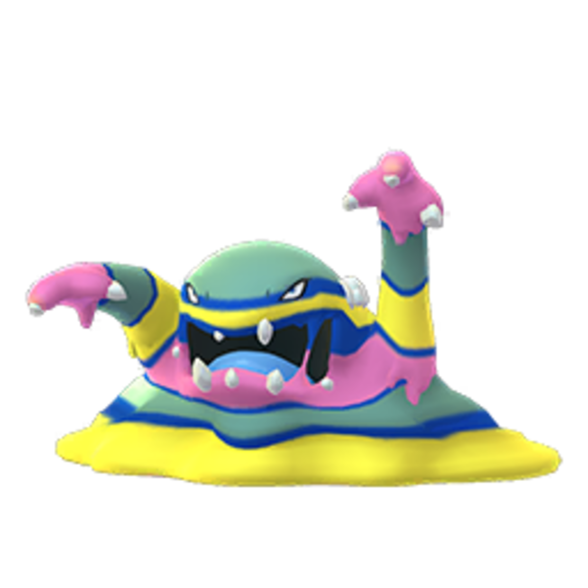 Alolan Muk with Bite and Dark Pulse