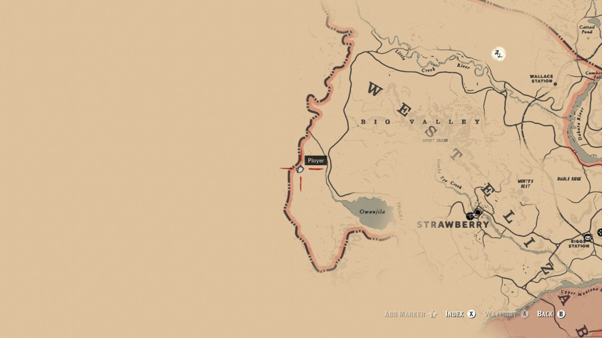 The location west of Owanjila where you can find the Obelisk.