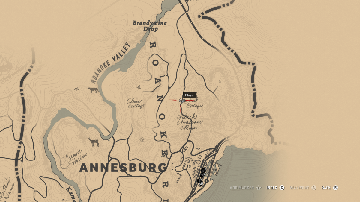 Reed Cabin is just North of Annesburg.
