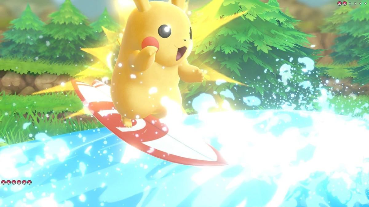 Pikachu using Splishy Splash.