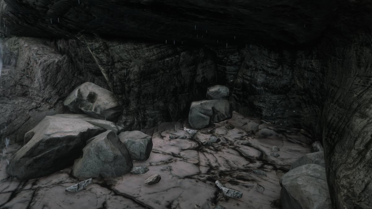 See that pile of rocks? No the one on the right. Yeah. The treasure is there. To the right of THAT.