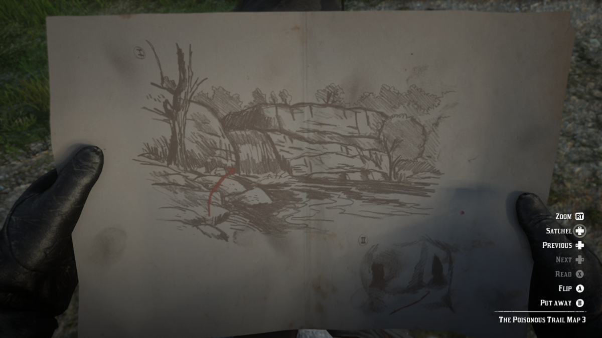 Fun fact everybody; this was the last waterfall I checked when I went hunting all over the map for this treasure the first time. Yep it was just one of those things.
