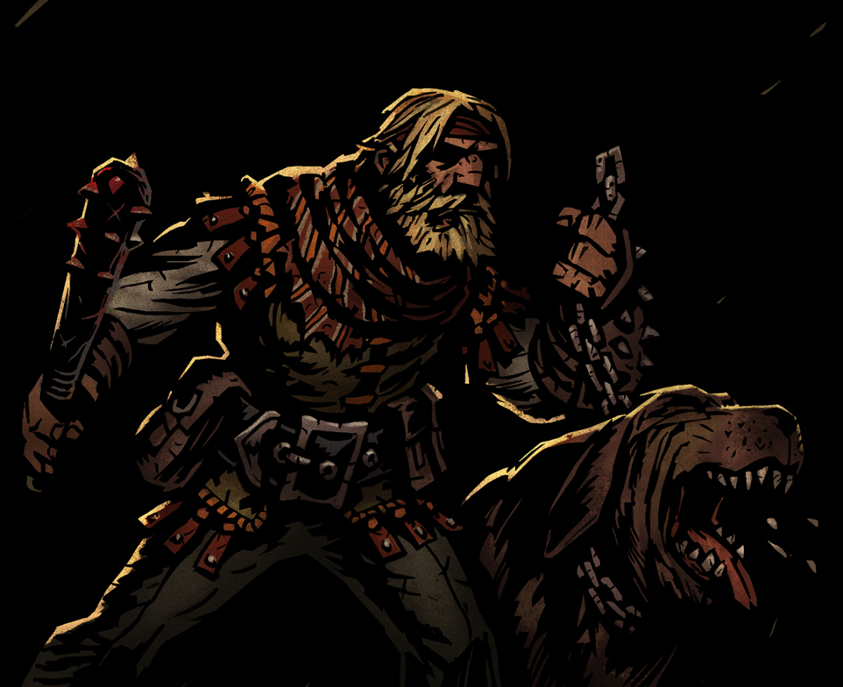 The Houndmaster in Darkest Dungeon